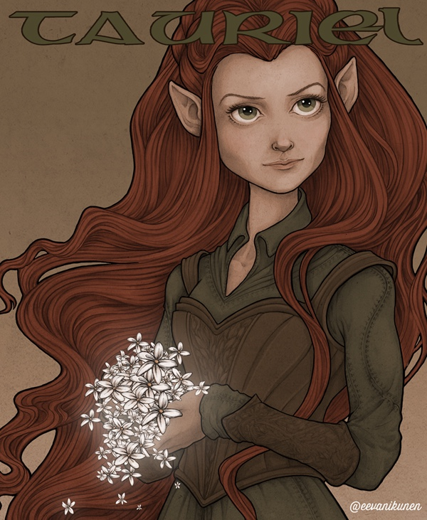 Tauriel fan art. The new Battle of Five Armies trailer was epic!