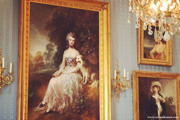 This is a photo I took of Gainsborough's painting 'Perdita' while I was visiting The Wallace Collection in London last autumn. If you are ever in London, I recommend visiting The Wallace Collection. It's a beautiful mansion house filled with breathtaking art.