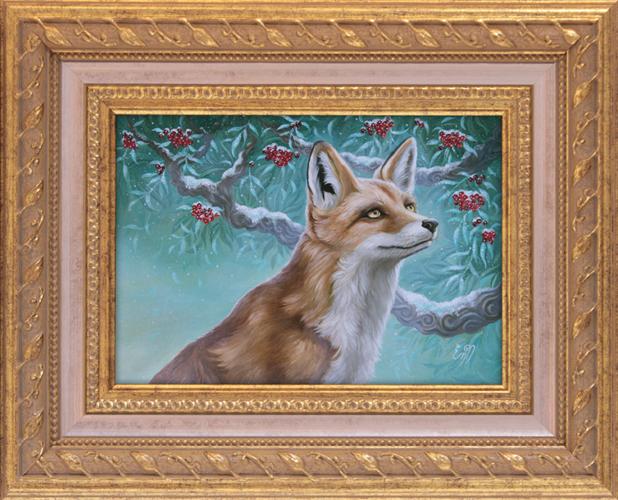 Fantasy art fox painting. Copyright © Eeva Nikunen 2019. All rights reserved.