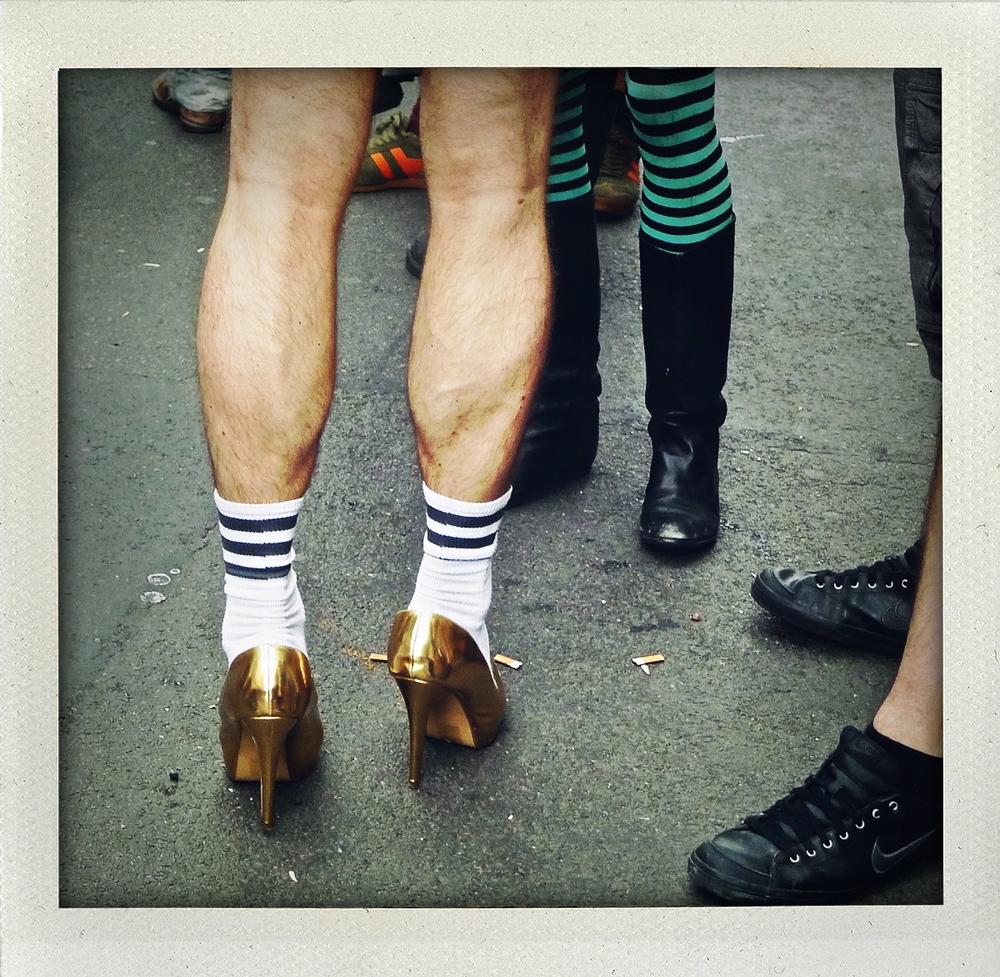 Permission to wear heels.