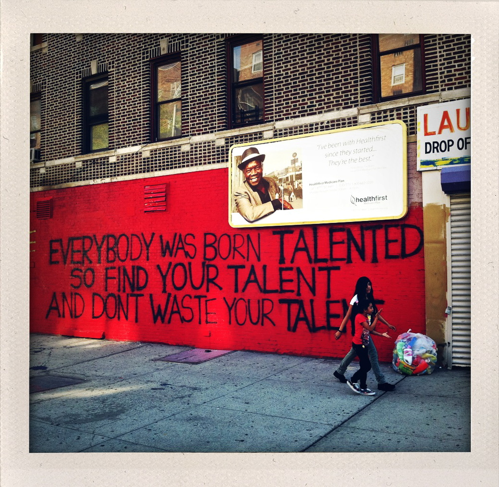 Permission to find your talent.