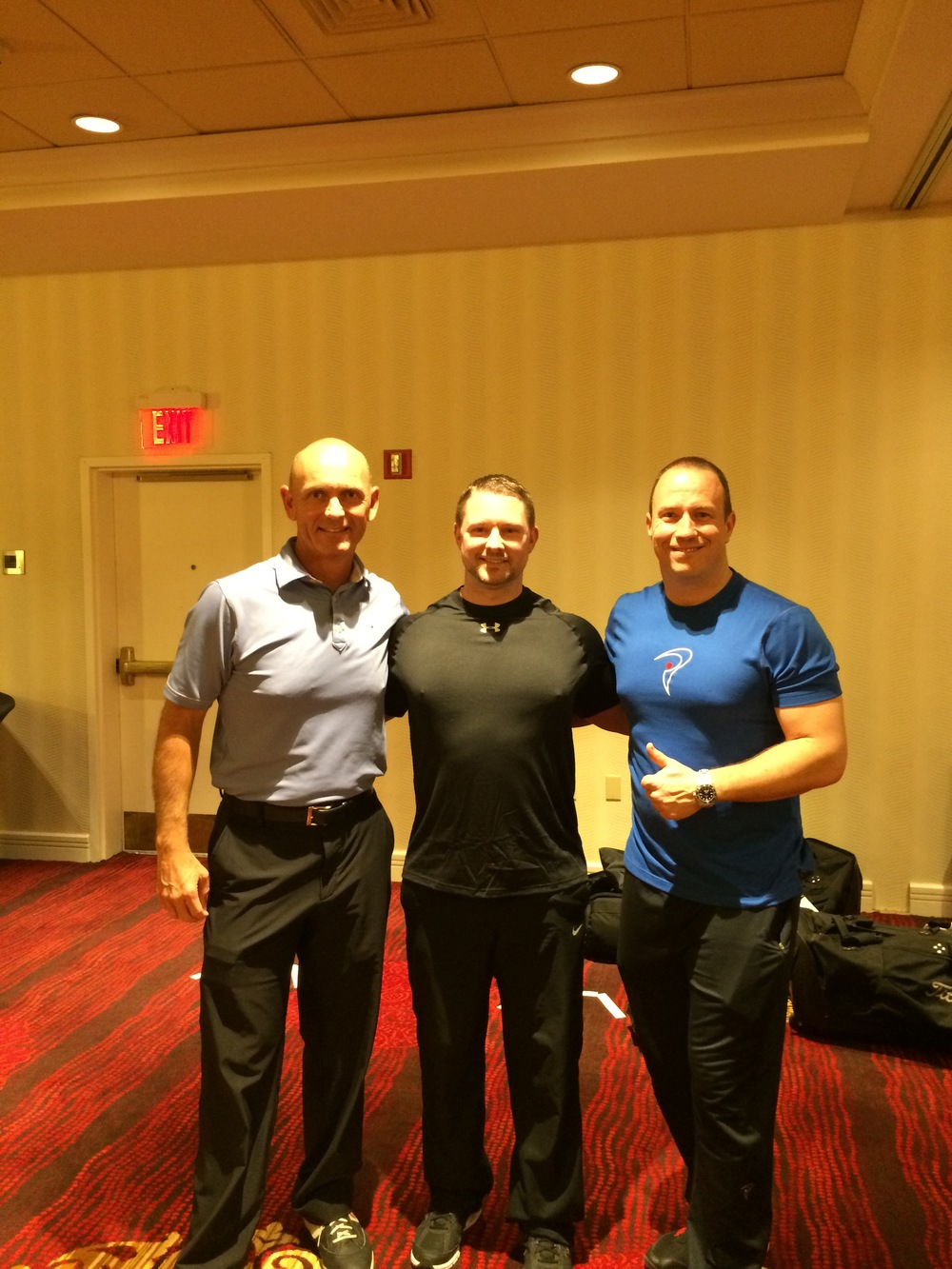 With Dave Phillips, PGA Pro Teacher (L) and Jason Glass, TPI Instructor and Strength Coach (R)