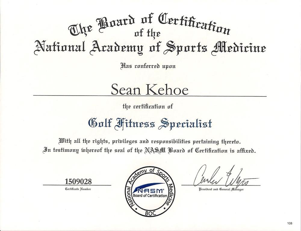 NASM Golf Fitness Specialist