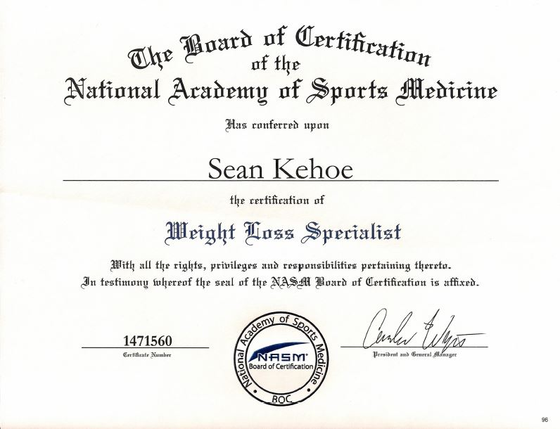 NASM Weight Loss Specialist