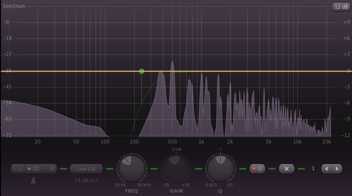 See this mess below 200hz on this synth lead? Chop it!