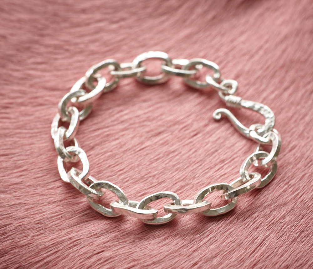 Fine silver handcrafted chain.