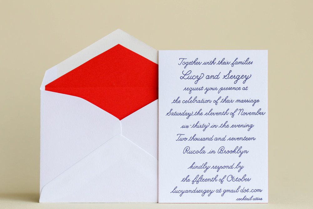 Lucy x Sergey Wedding Invitation