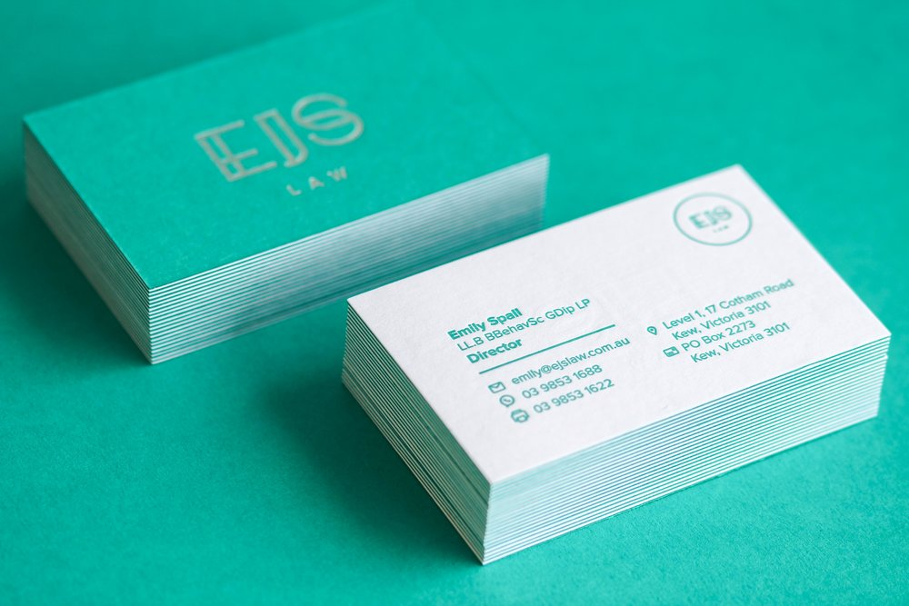EJS Law - The service I received was second to none and I think a lot of it stems from the passion that MC Pressure has for the craft. They truly love their work. My business cards are better than I ever imagined, they are the kind of cards you don't throw away because they are a work of art. I highly recommend MC Pressure for all things letterpress and other printing needs, I will definitely be back again!