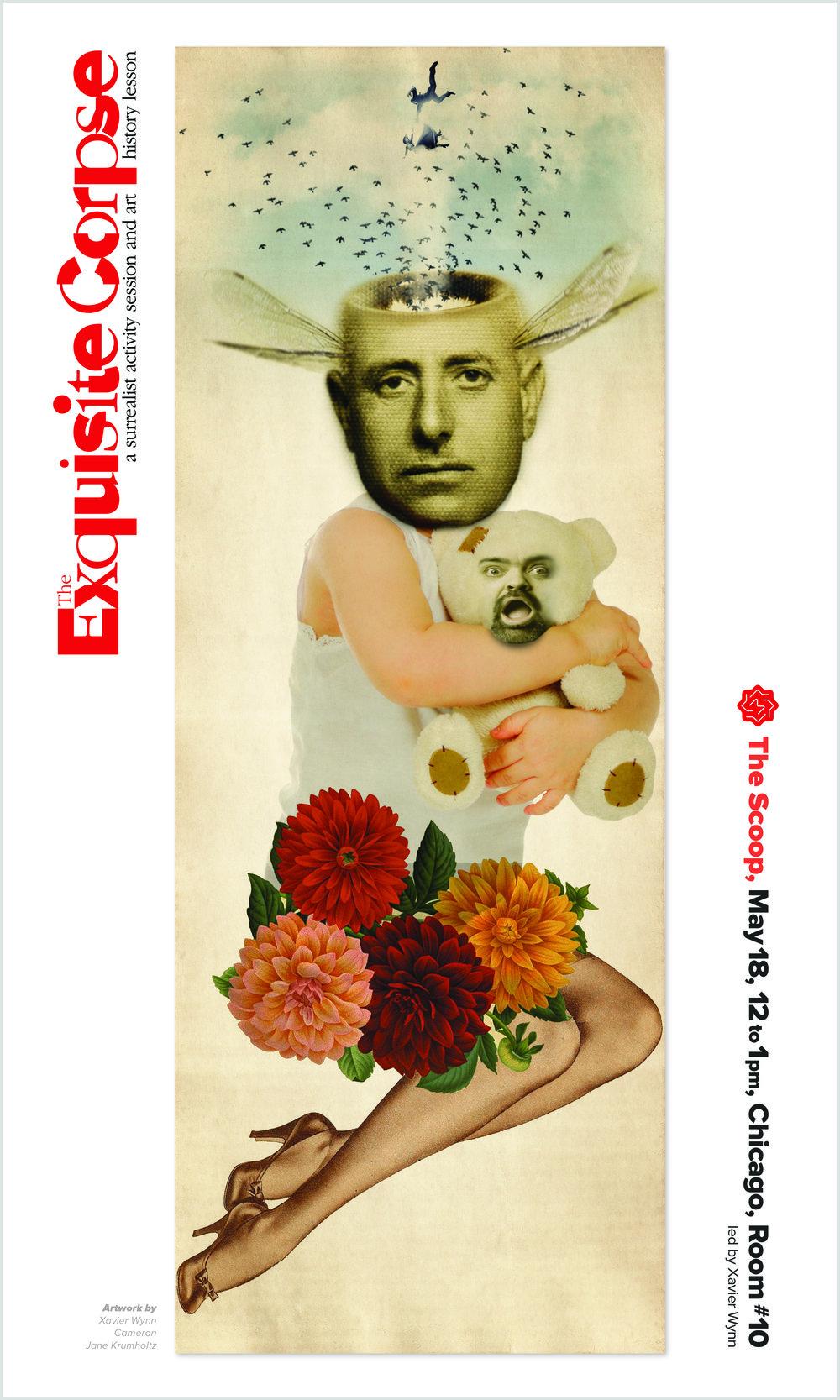 The Exquisite Corpse Poster   XW :Designer and Illustrator  Liam  Montgomery:   Illustrator  Jane  Krumholz:   Illustrator