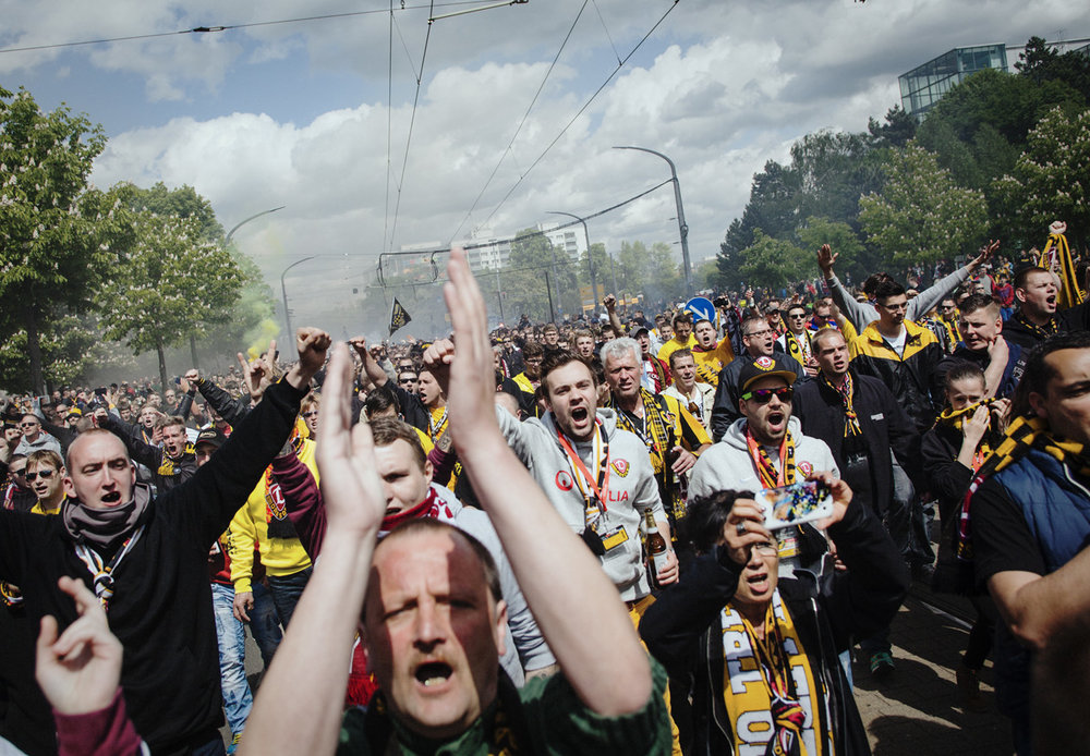 DYNAMO - Reportage about the decisive football match day between Dynamo Dresden and Arminia Bielefeld.