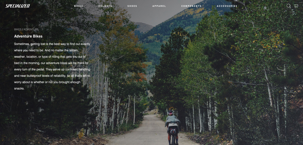 Specialized Bicycle Adventure Page