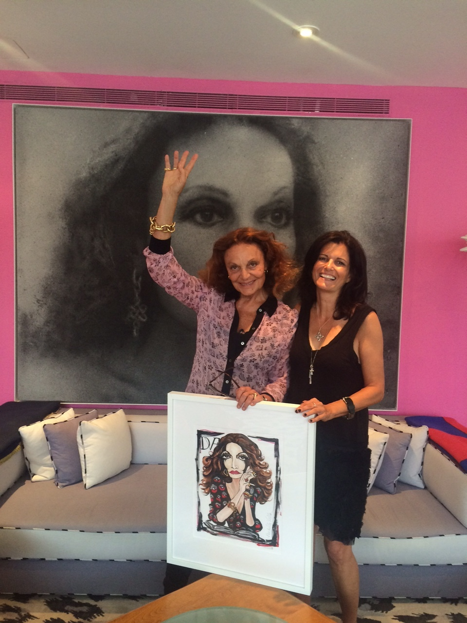 Michelle meets with Diane von Furstenberg