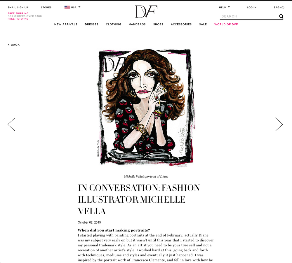 Michelle Vella is featured on the DVF Blog