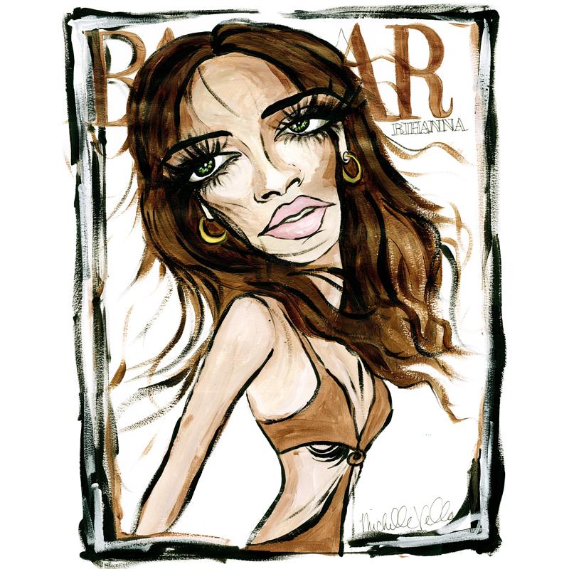 Rihanna BAZAAR Cover $850 framed