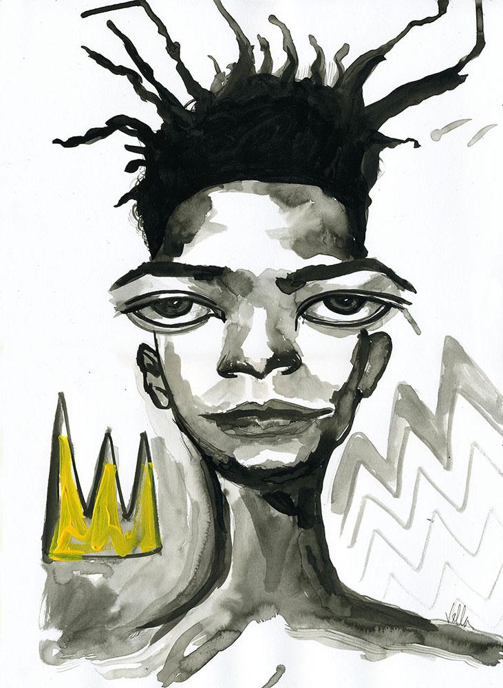 Jean Michel Basquiat King $150 unframed