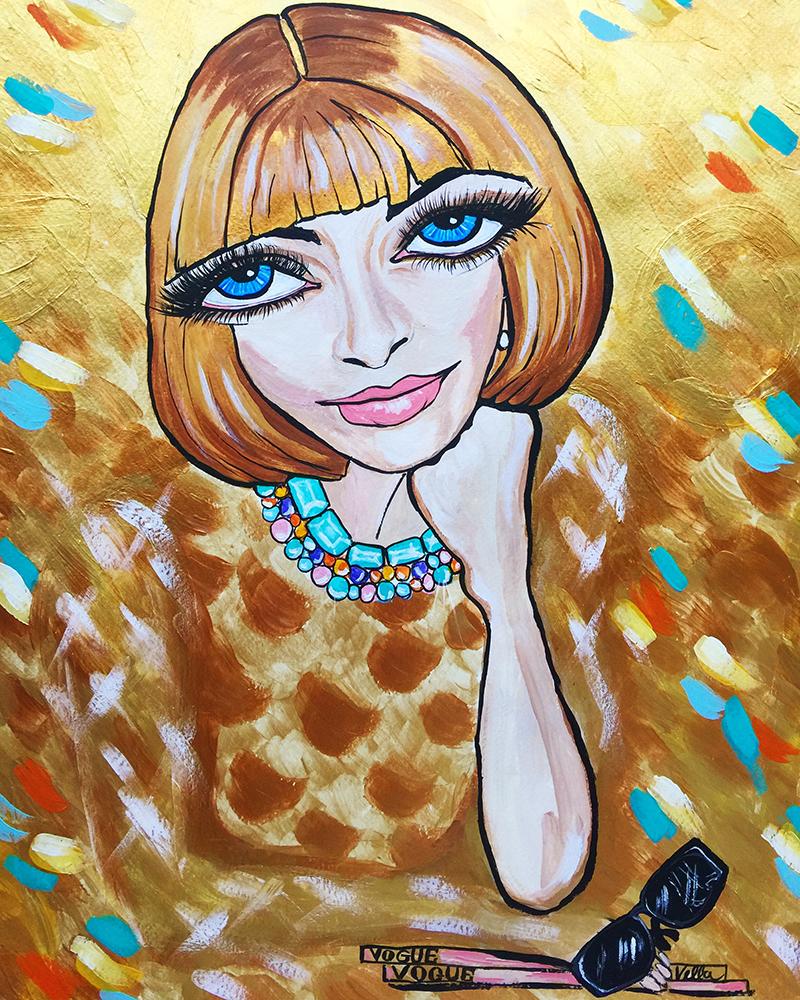 Golden Girl Anna Wintour $750 unframed