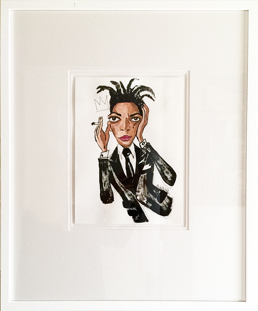 Jean Michel Basquiat wearing Tom Ford - framed