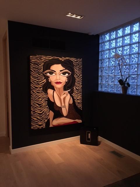 """Mrs. Robinson, 48"""" x 60"""" acrylic on canvas"""