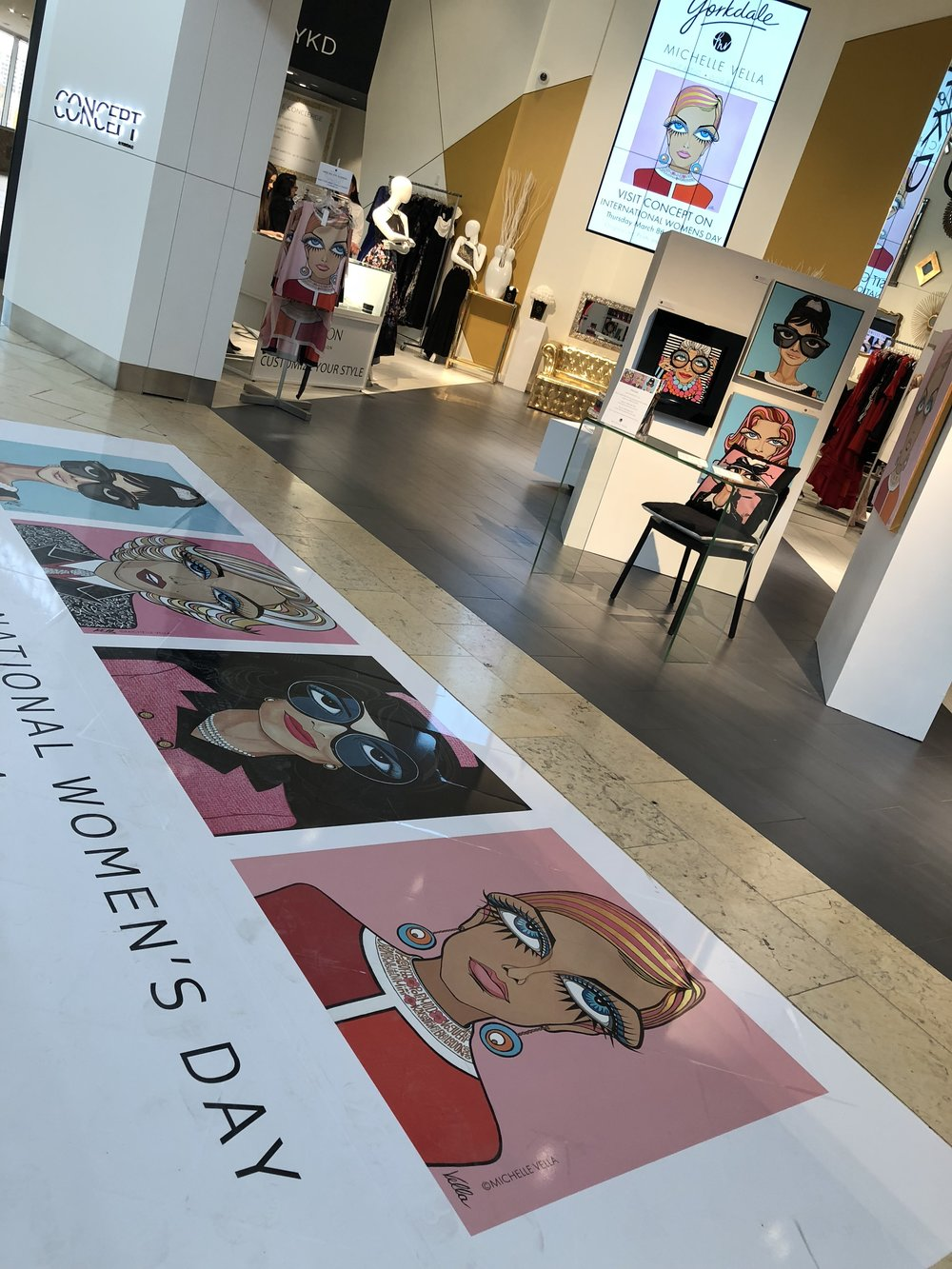 My POP ART POP UP at Toronto Yorkdale's CONCEPT store Celebrating International Women's Day 2018  Read more...