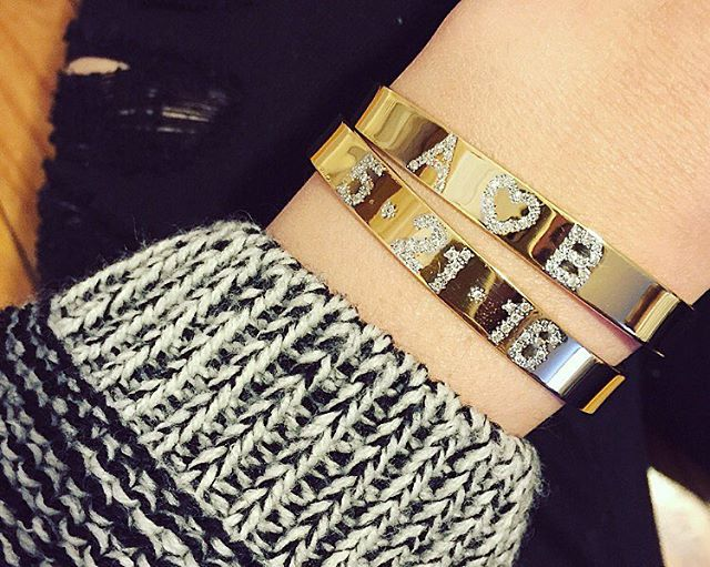 Wear your heart on your {wrist} • Diamond Love and Date Cuffs • info@sheabell.com to order #SheaBell