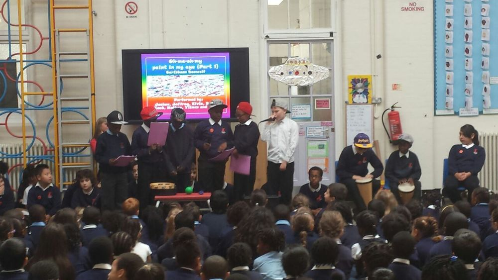 Year 6 Yellow%27s Black History Month Class Assembly.JPG