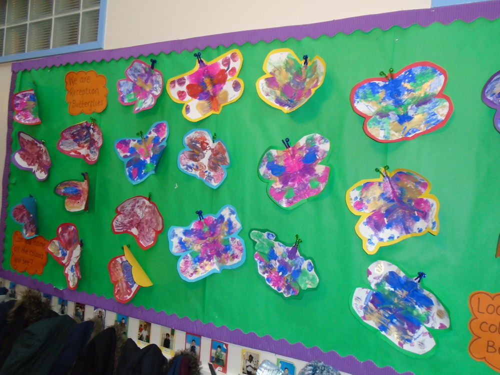 We made beautiful butterflies because we are butterfly class.
