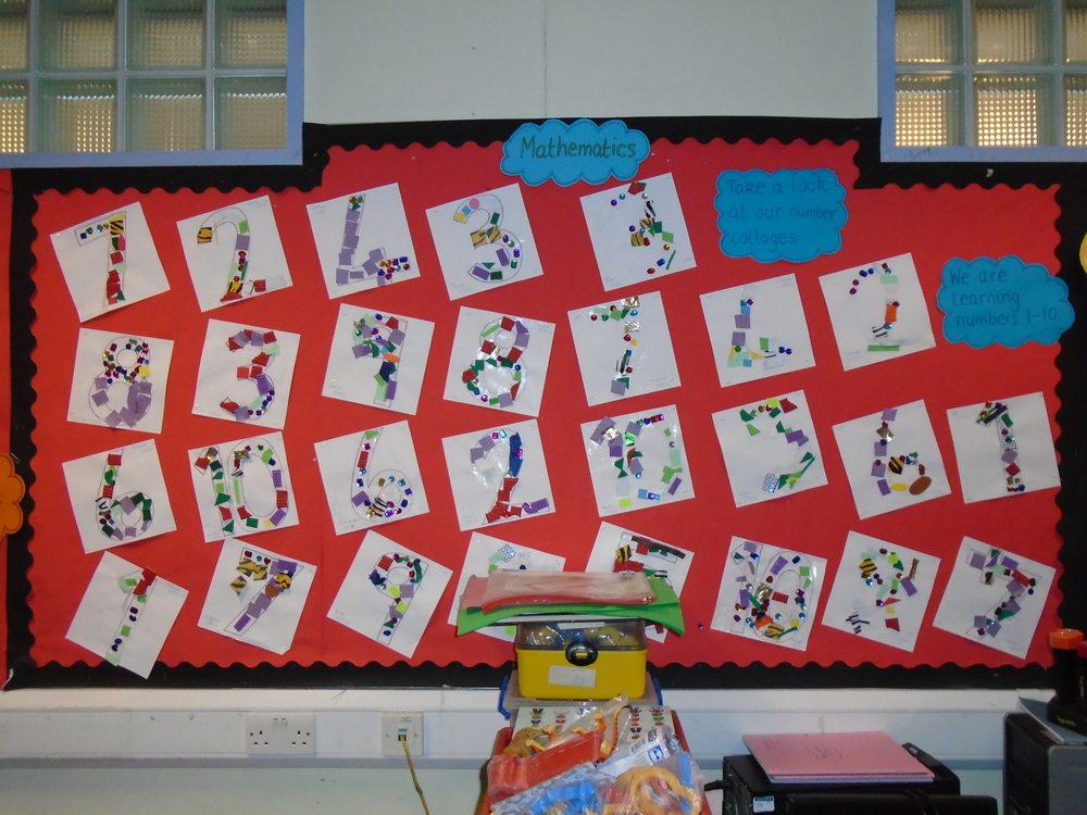 We have been learning our numbers 1-10 look at our gorgeous collaged numbers!