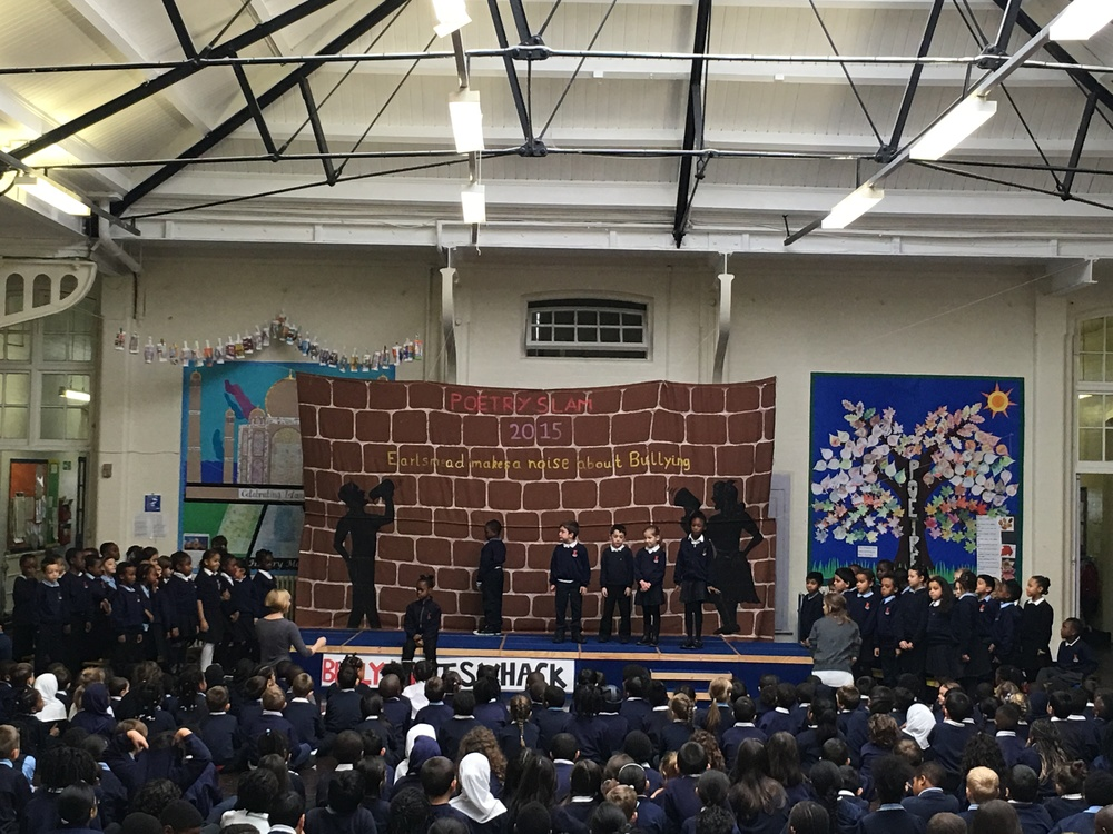 Here we are performing the poem that we wrote for the Poetry Slam. It was called 'Dear Diary' and it was written from the perspective of a victim of bullying.