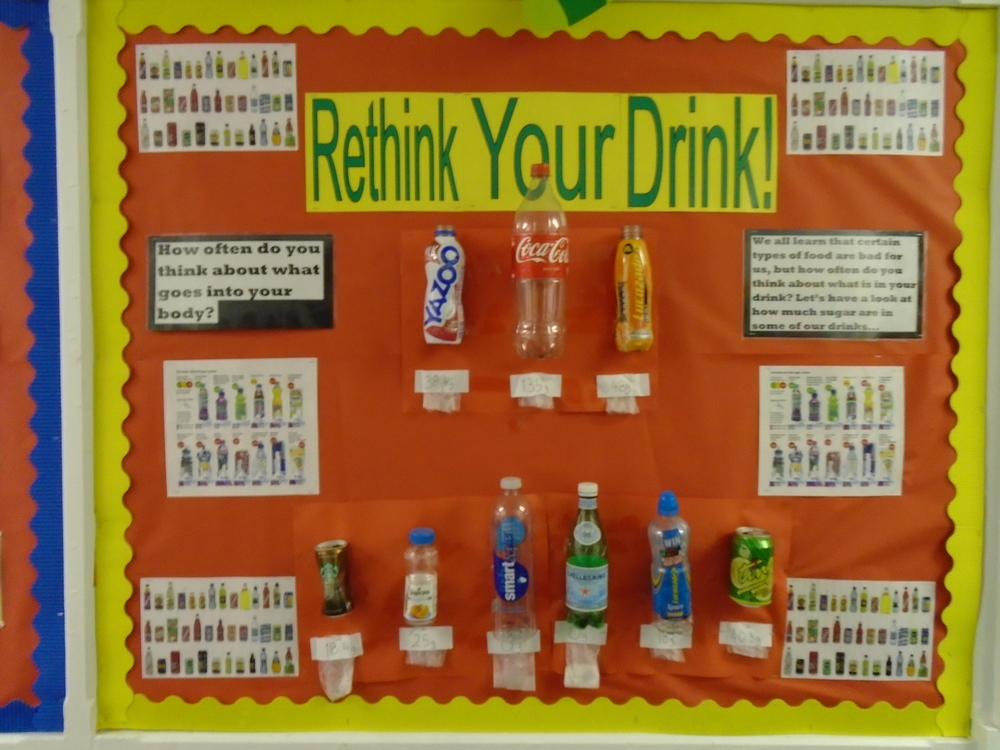 We learnt about how to have a healthy and balanced diet – these drinks aren't very healthy!