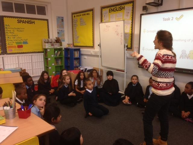 We are lucky enough to have a teacher from Spain in our class for a few weeks – she has taught us many new things