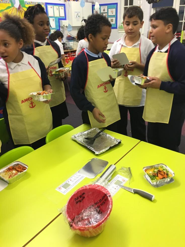 Some of us are in Cooking Club, with Miss Wright!