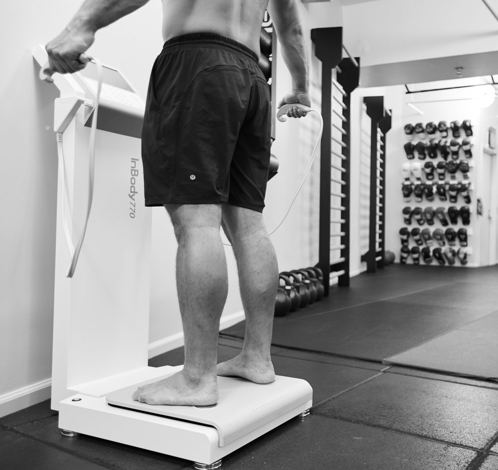 InBody Scale - The InBody 770 Body Composition is more than a scale. Other then giving you an accurate weight it also breaks down the amount of muscle tissue and fat that you have on your limbs and torso. The data is stored in the