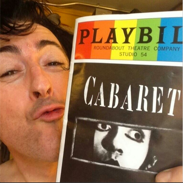 Alan Cumming cozies up to #PlaybillPride, June 2014.