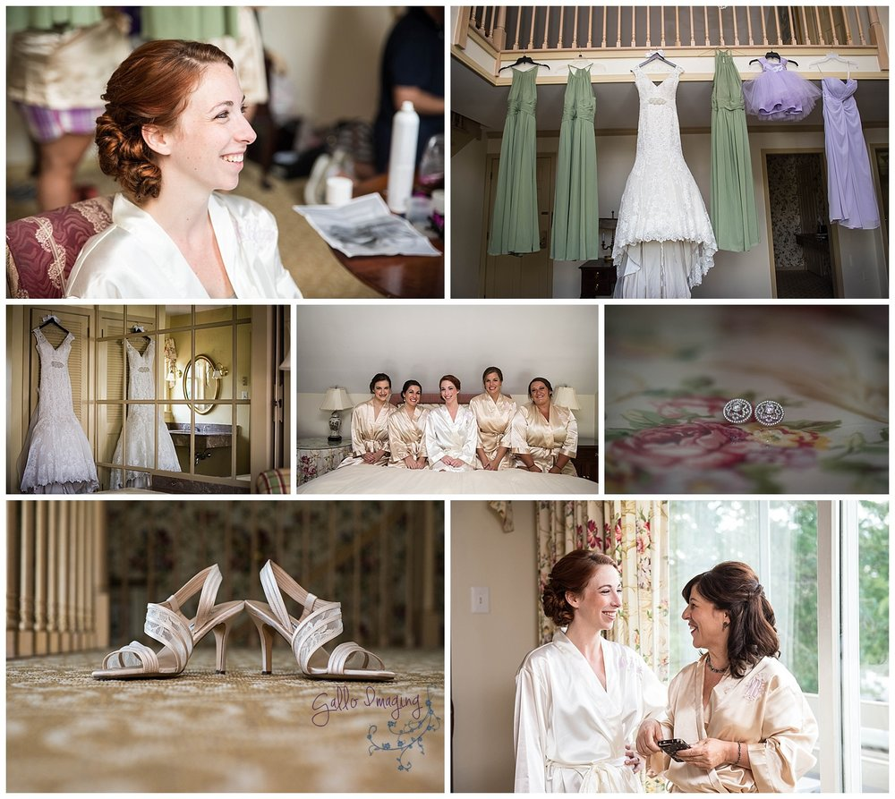Danielle and her bridesmaid got married at the gorgeous Golden Plough Inn in Peddler's Village, I love the spacious room with lots of natural light!