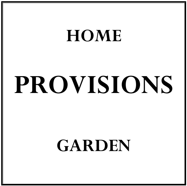PROVISIONS HOME AND GARDEN
