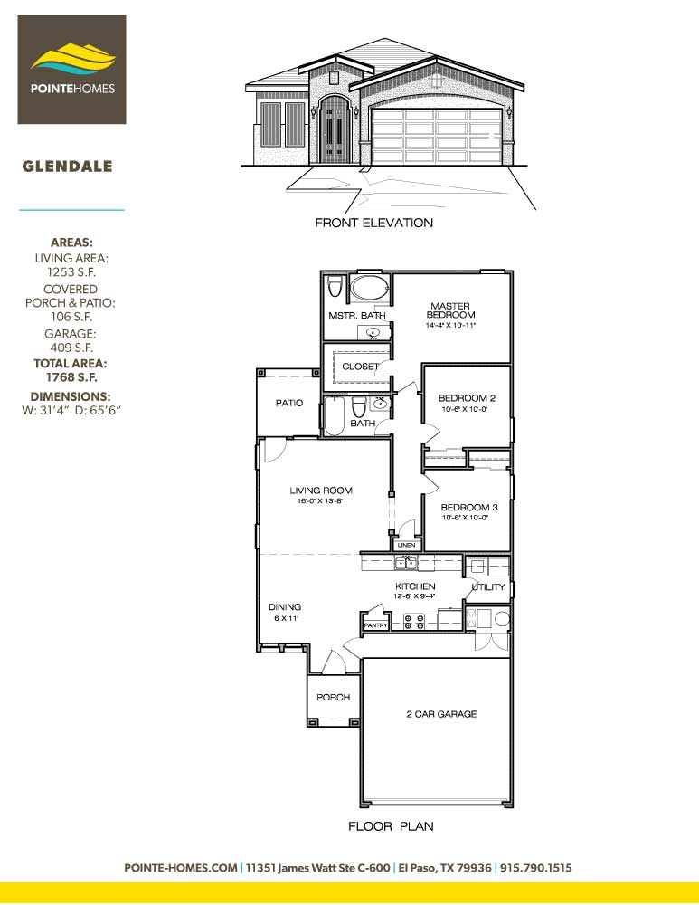 Pointe Homes Floor Plan Glendale