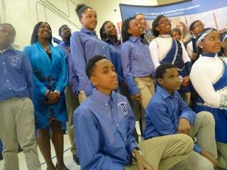 The FPCS Chamberlain Honor Society and Majorettes.