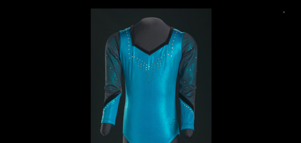 Gabby Douglas, a  famous gymnastics Olympian wore this leotard for the Olympics in 2003.