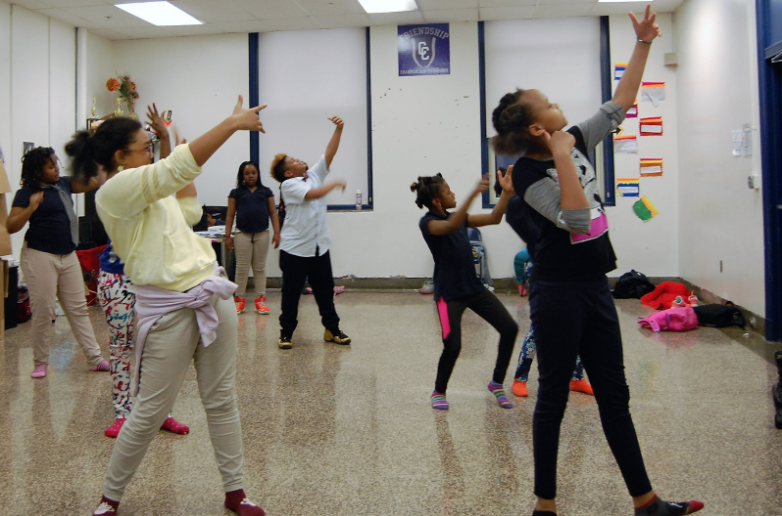 Under the guidance of Ms. Piper, a group of Chamberlain students use dance as a way to have fun and stay fit.