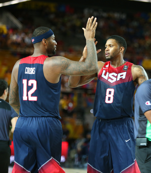 DeMarcus Cousins and Rudy Gay played well off the bench as Team USA beat Dominican Republic 106-71.