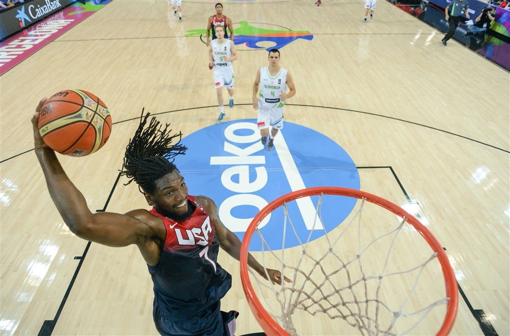 Kenneth Faried and Team USA take on Lithuania on Thursday.
