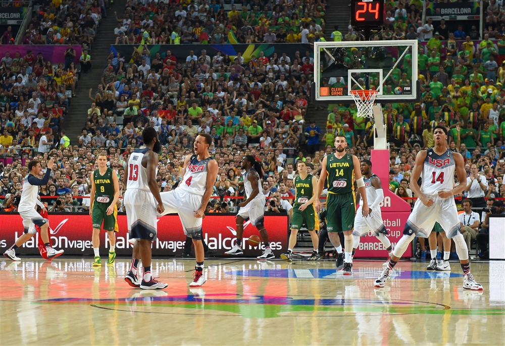 Team USA is heading to the gold medal game after beating Lithuania 96-68.