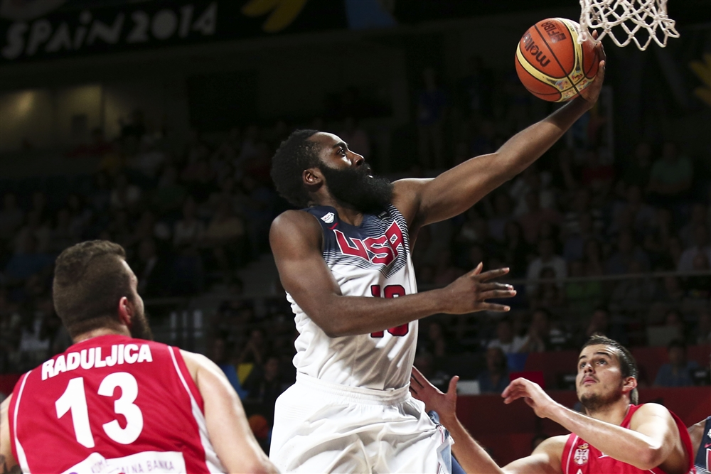 James Harden got it going early in the gold medal game scoring 23 points.