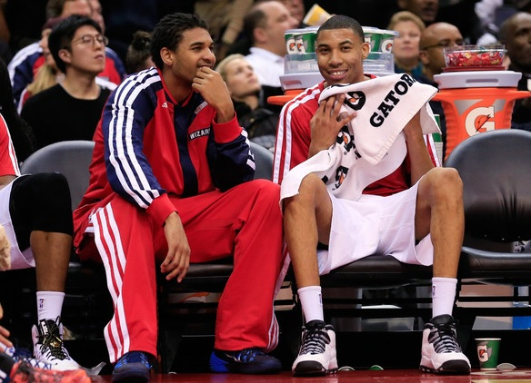 Can Glen Rice Jr (L) and Otto Porter Jr step in for the injured Bradley Beal?