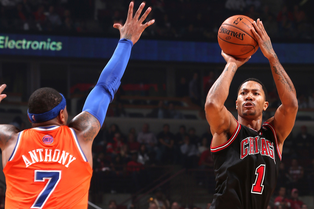 Derrick Rose makes his return against Carmelo Anthony and the Knicks.
