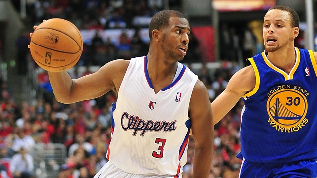 The matchup of the night; Chris Paul against Steph Curry