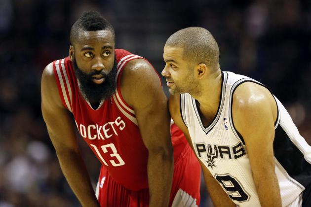 James Harden will try to get the Rockets to 6-0 as they host Tony Parker and the San Antonio Spurs.