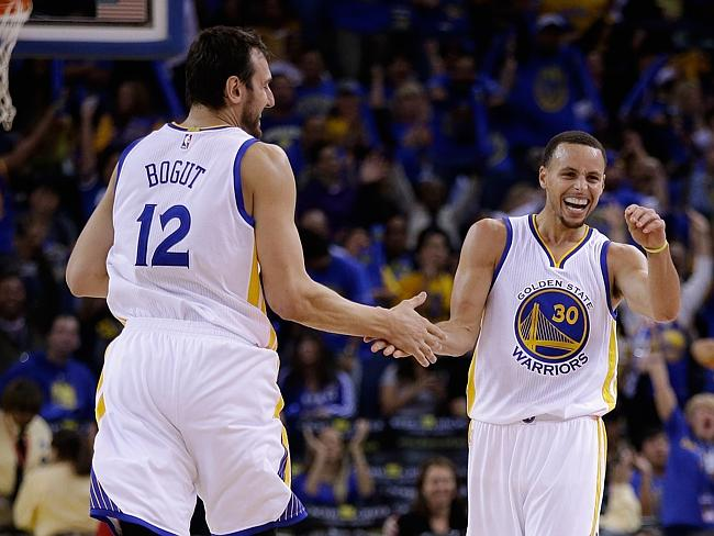 Steph Curry and the Warriors have plenty to smile about as the league's last unbeaten team.