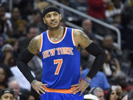 Carmelo Anthony has struggled with his shot as the New York Knicks lost four in a row