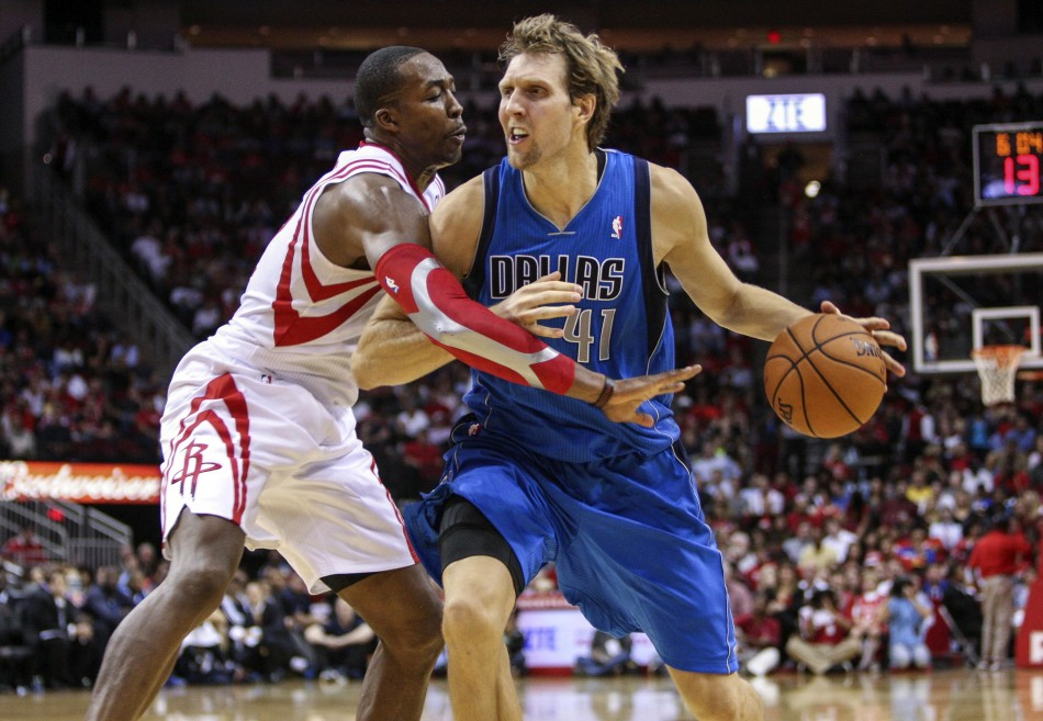 Dirk Nowitzki leads the red hot Mavericks into Houston to take on Dwight Howard and the Rockets.